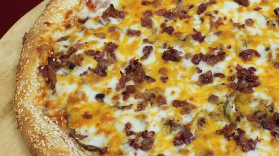 bacon cheeseburger pizza delivery in ankeny des moines and kansas city