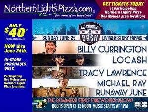 northern lights pizza special big country bash tickets
